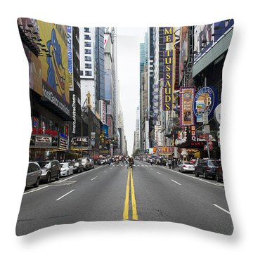 42nd Street - New York Throw Pillow