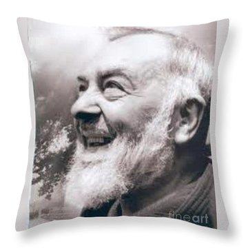 Padre Pio Throw Pillows