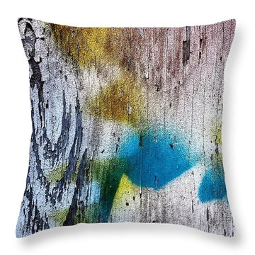 Wooden Wall 3 Throw Pillow