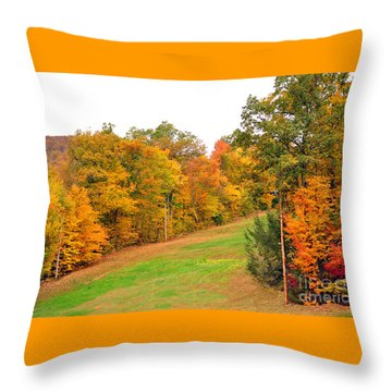 Fall Foliage In New England Throw Pillow
