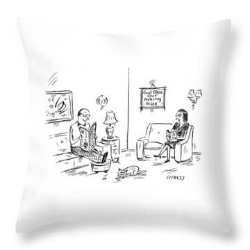 New Yorker January 23rd, 2006 Throw Pillow