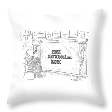 First Nationalized Bank Throw Pillow