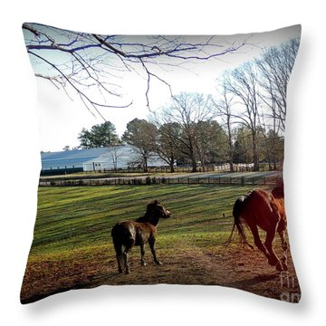 45 And Going Strong Throw Pillow