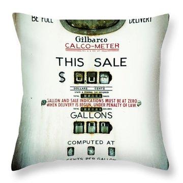 45 Cents Per Gallon Throw Pillow