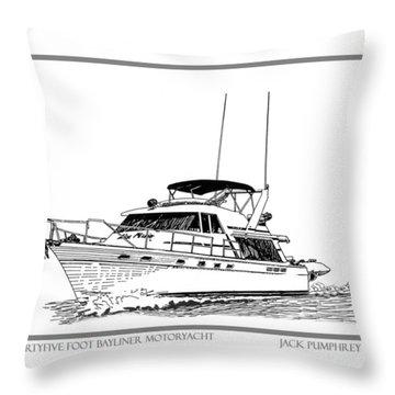 45 Foot Bayliner Motoryacht Throw Pillow by Jack Pumphrey