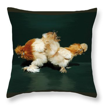 45. Sand Silkies Throw Pillow