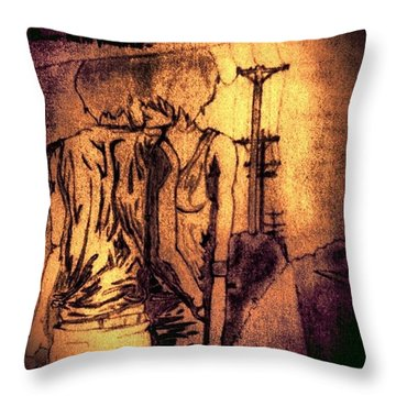 Bullet For My Valentine Throw Pillow by Natalie Christensen