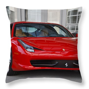 458 Italia Throw Pillow by Dennis Hedberg