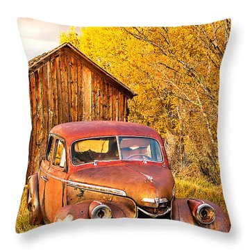 46 Chevy In The Weeds Throw Pillow
