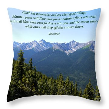 46- John Muir Throw Pillow by Joseph Keane