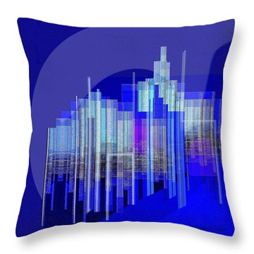 462 - Big City Abstract ... Throw Pillow by Irmgard Schoendorf Welch