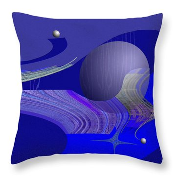 463 - City Of Future 4   Throw Pillow by Irmgard Schoendorf Welch