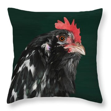 47. Bearded Hen Throw Pillow