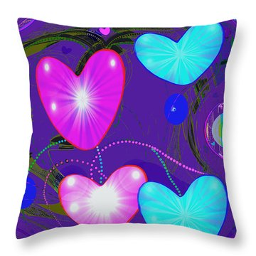 472 -  Valentine Hearts  ... Throw Pillow