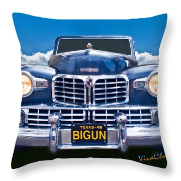 48 Lincoln Continental Grille On Bigun Throw Pillow
