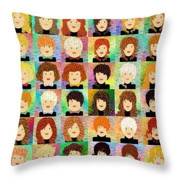 48 Porcelain Dolls Throw Pillow by Andee Design