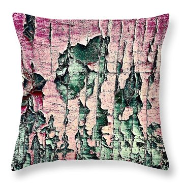 Flaky Paint Throw Pillow