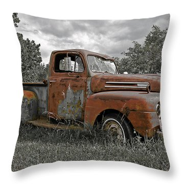 Throw Pillow featuring the photograph '49 Ford Pick-up by Christopher McKenzie