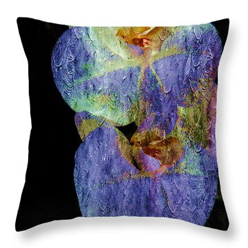 Orchids In Blue Violet Throw Pillow