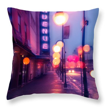 4th Avenue Theater Throw Pillow