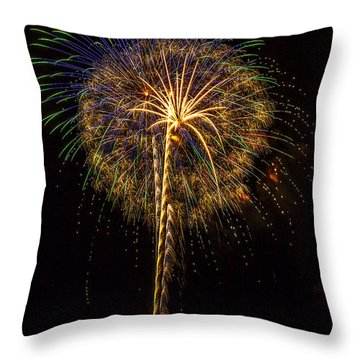 4th July #13 Throw Pillow by Diana Powell