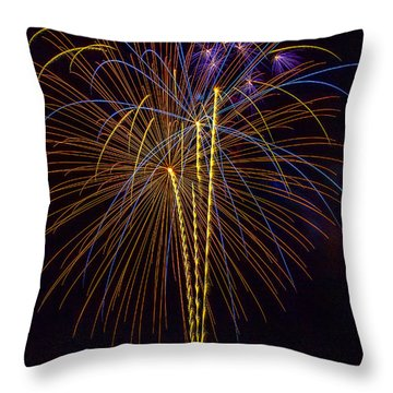4th July #14 Throw Pillow by Diana Powell