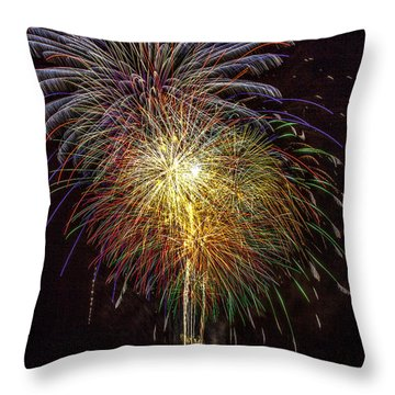 4th July #15 Throw Pillow by Diana Powell