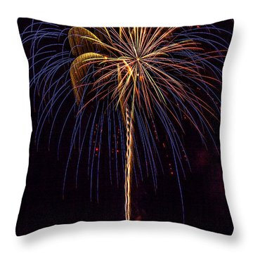 4th July #16 Throw Pillow by Diana Powell