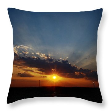 4th July Sunset 2013 Throw Pillow