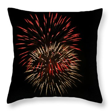 4th Of July 6 Throw Pillow by Marilyn Hunt