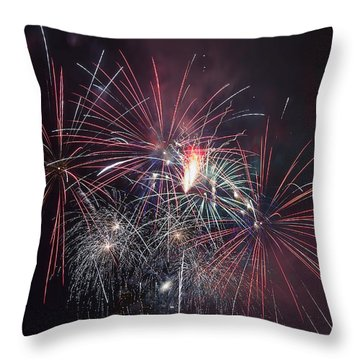 4th Of July Fireworks Portland Oregon 2013 Throw Pillow