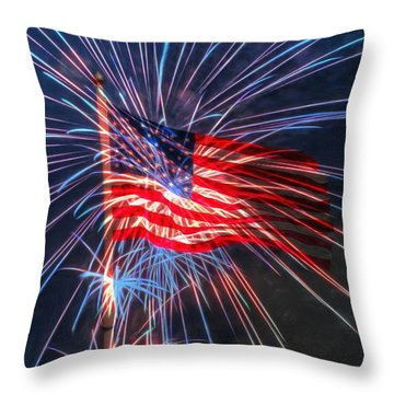 4th Of July Throw Pillow by Heidi Smith