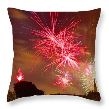 4th Of July In St Louis Throw Pillow by Garry McMichael