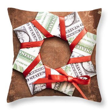 4th Of July Throw Pillow by Jan Bickerton