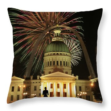 4th Of July St Louis Style Throw Pillow by Garry McMichael