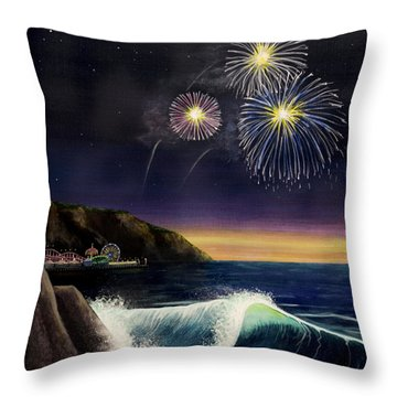 4th On The Shore Throw Pillow