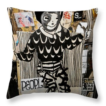 4th St. Door Throw Pillow by Joan Reese