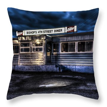 4th Street Diner Throw Pillow