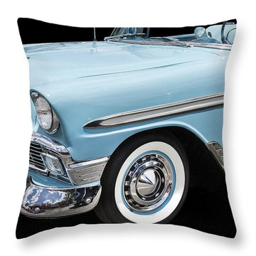 1956 Chevrolet Bel Air Convertible Throw Pillow