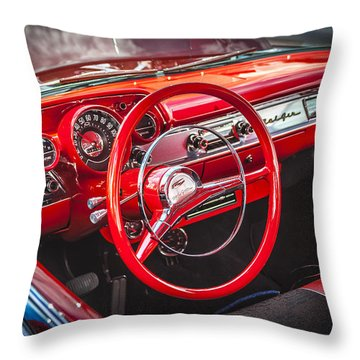 1957 Chevrolet Bel Air Throw Pillow