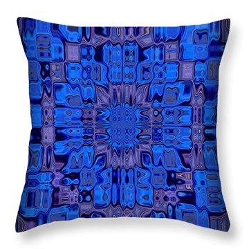 Abstract 119 Throw Pillow by J D Owen