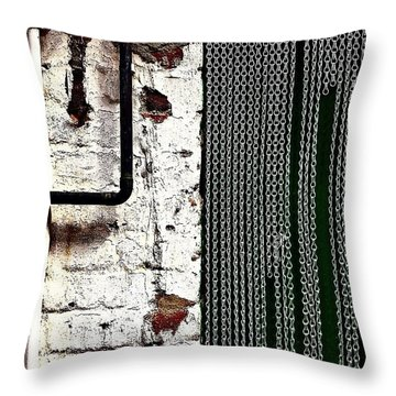Chain Door Throw Pillow by Jason Michael Roust