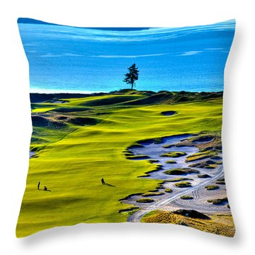 #5 At Chambers Bay Golf Course - Location Of The 2015 U.s. Open Tournament Throw Pillow