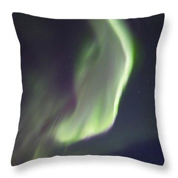 Aurora Borealis Over Fish Lake Throw Pillow by Joseph Bradley
