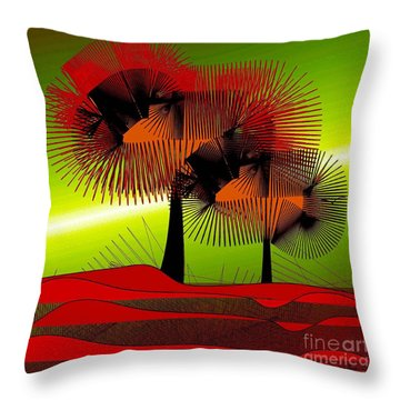 Autumn Colours Throw Pillow by Iris Gelbart
