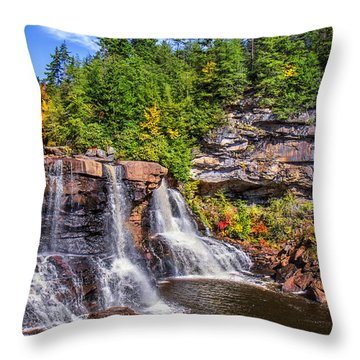 Blackwater Falls Throw Pillow by Mary Almond