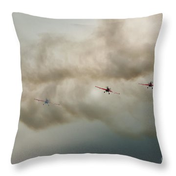 Blades Throw Pillow by Angel  Tarantella