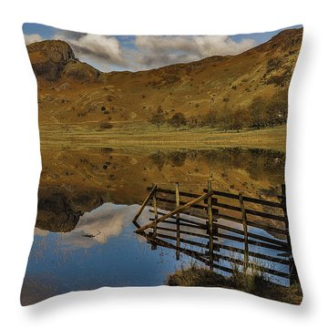 Blea Tarn Throw Pillow by Trevor Kersley