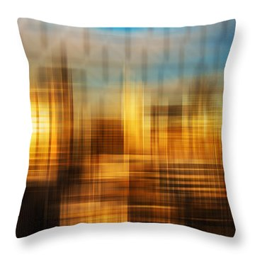 Blurred Abstract Colorful Background Throw Pillow by Matthew Gibson