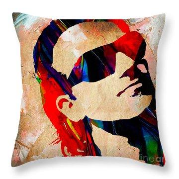 Bono U2 Throw Pillow